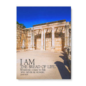 """I Am the Bread of Life"" Actual Location - 5x7 Tabletop Canvas Art"