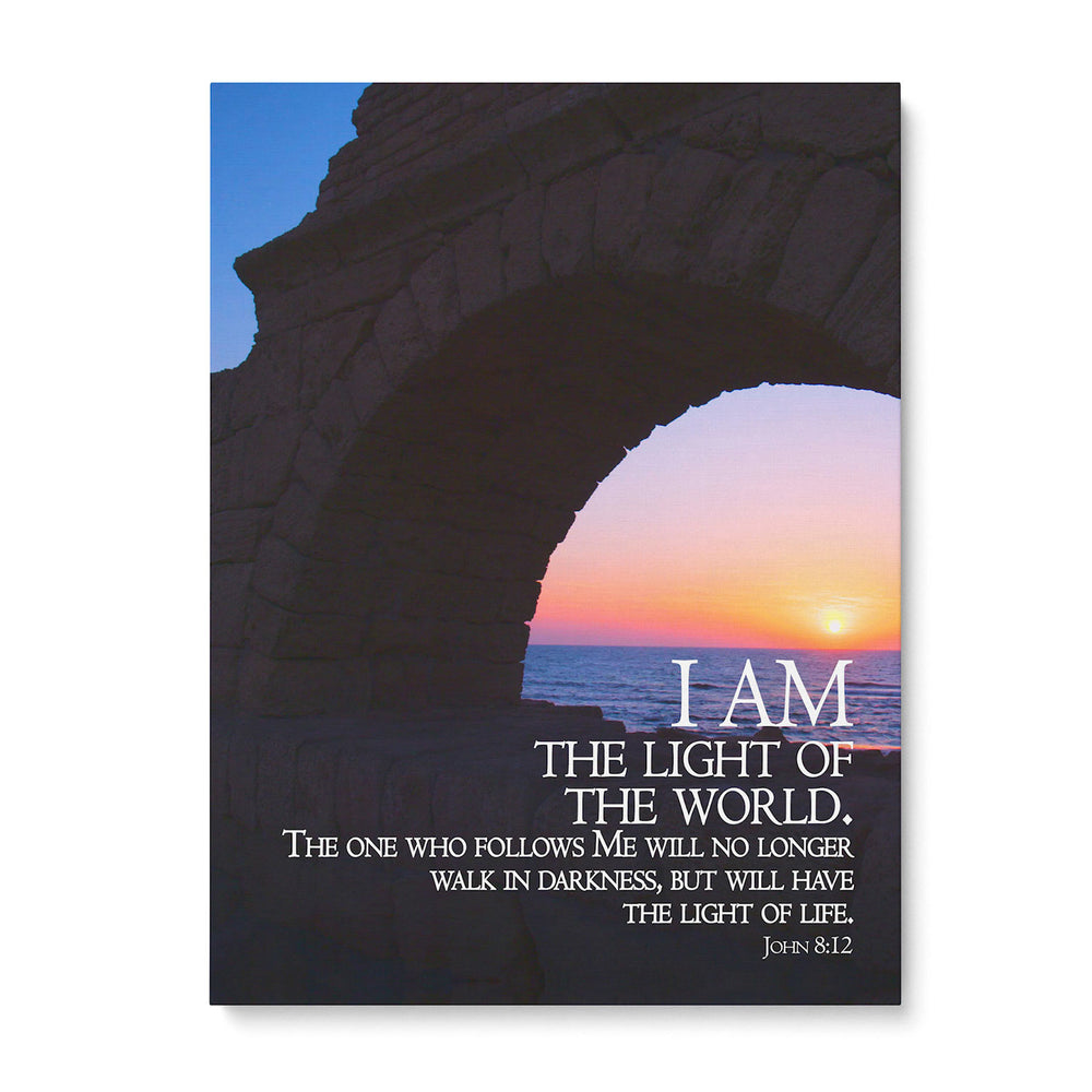"""I Am the Light of the World"" - 5x7 Tabletop Canvas Art"
