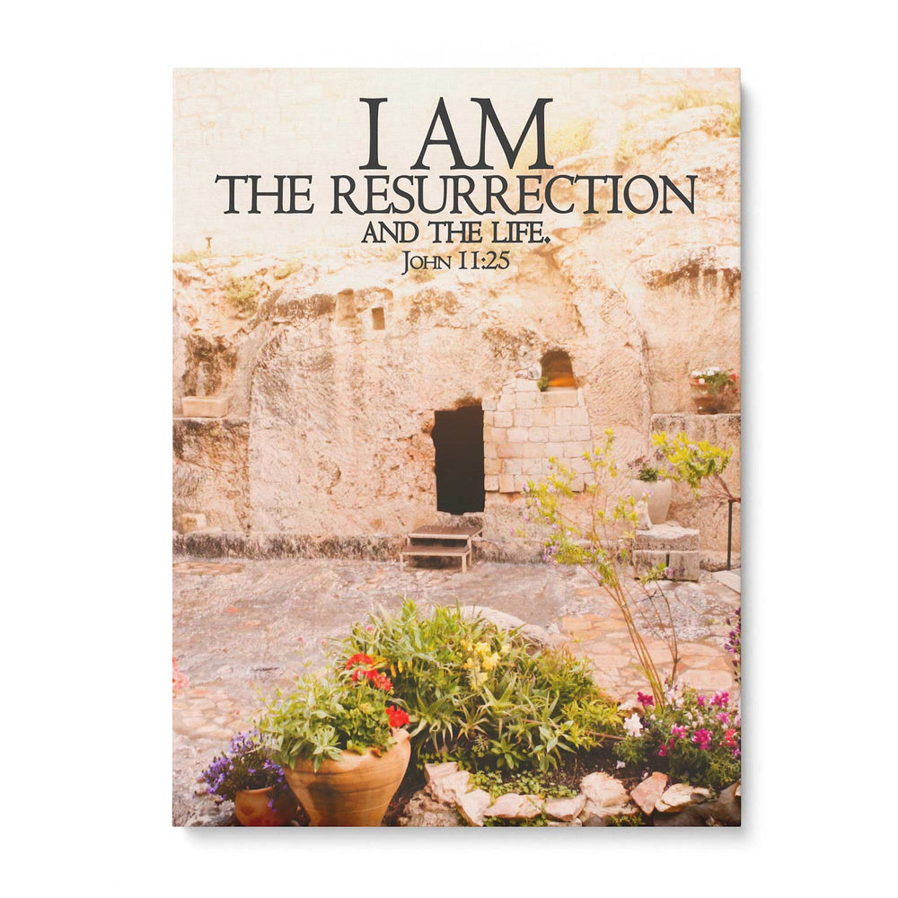 """I Am the Resurrection"" - 5x7 Tabletop Canvas Art"