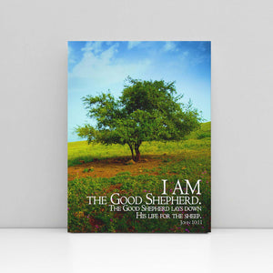 "Load image into Gallery viewer, ""I Am the Good Shepherd"" - 5x7 Tabletop Canvas Art"
