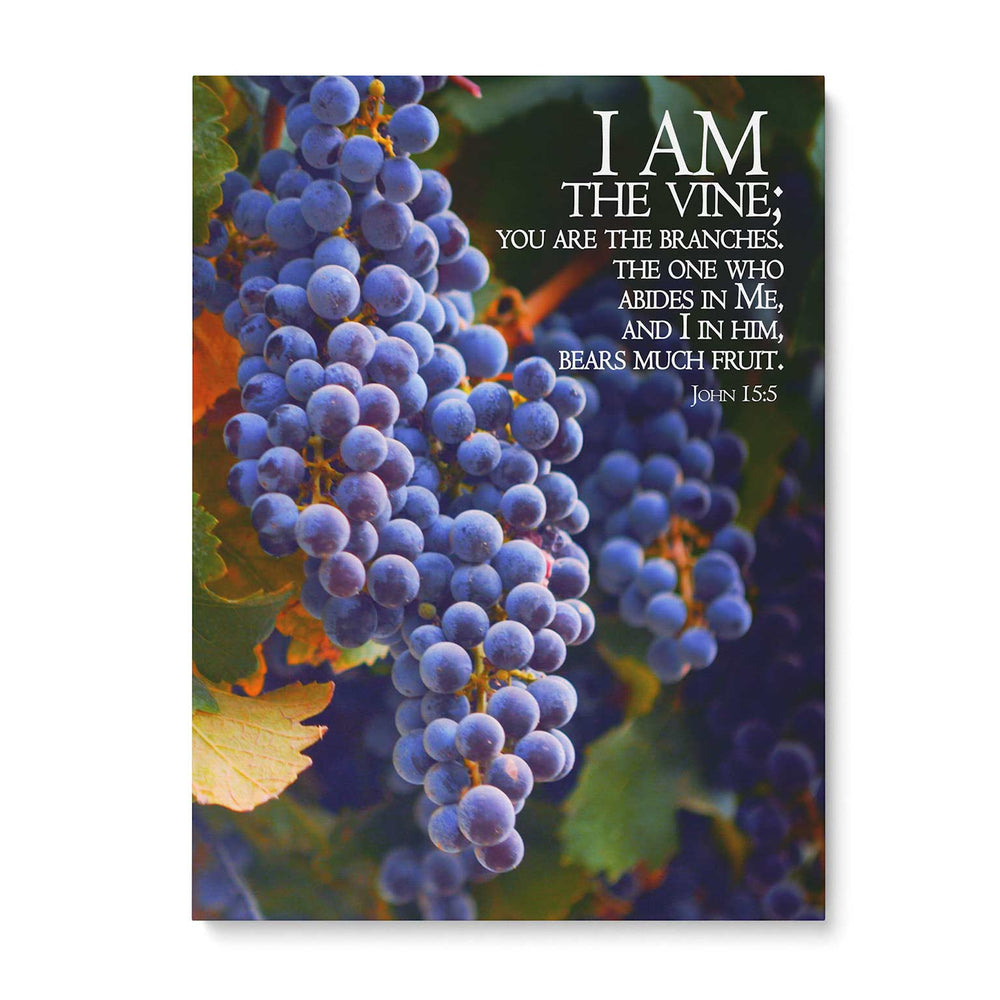 """I Am the Vine"" - 5x7 Tabletop Canvas Art"