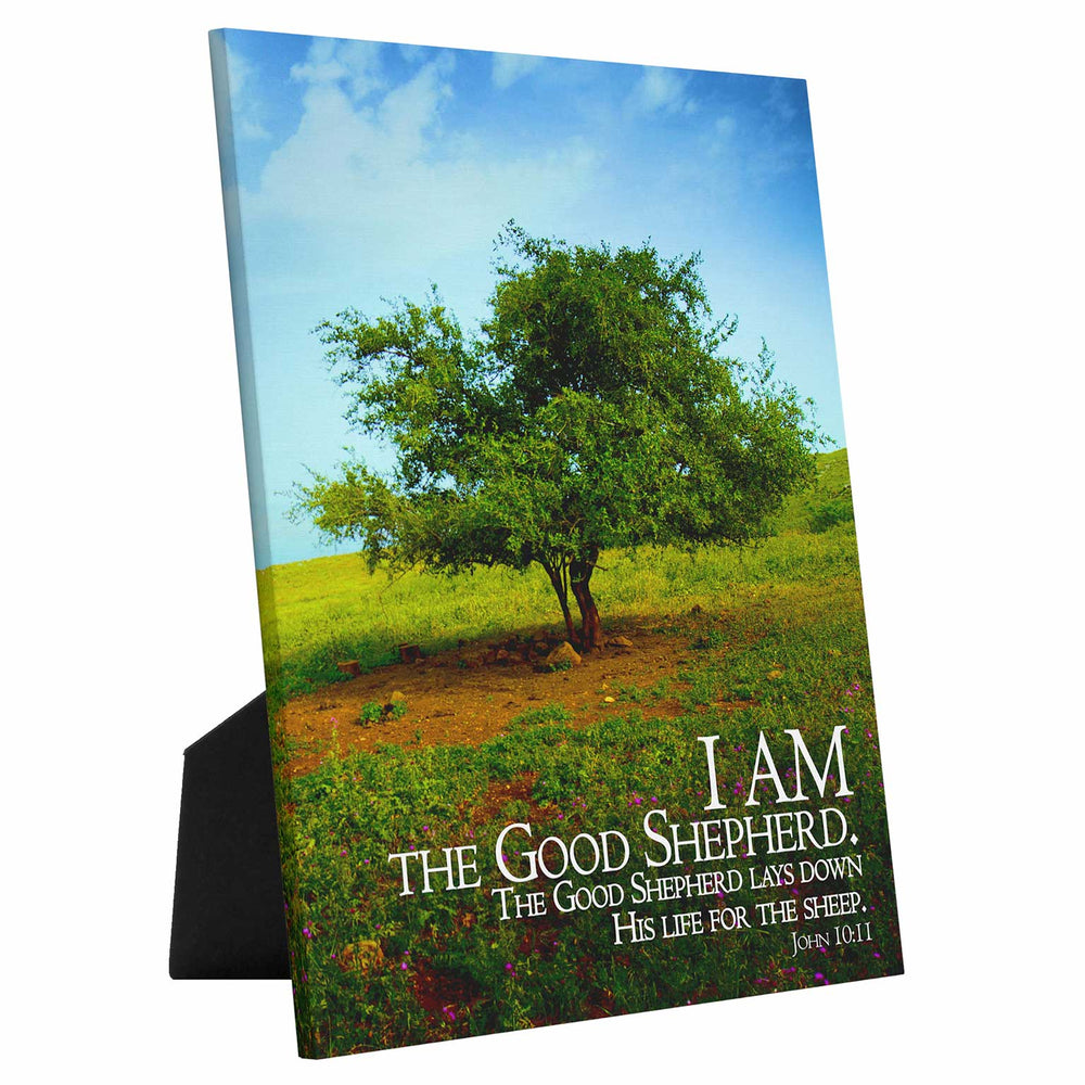 """I Am the Good Shepherd"" - 5x7 Tabletop Canvas Art"