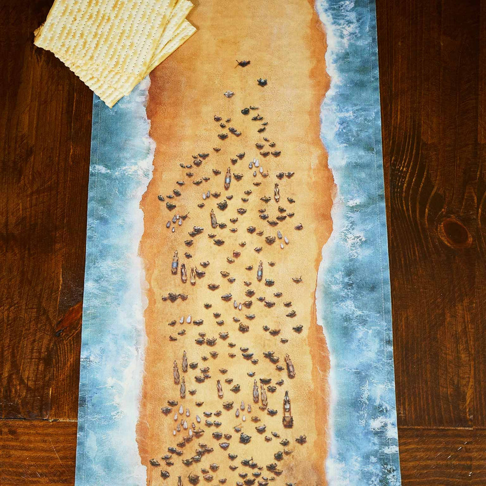 Israel Crossing the Red Sea Table Runner, Christian Passover Decorations, Messianic Passover, Exodus, Hebrew Roots Passover, I Am Israel Home Decor