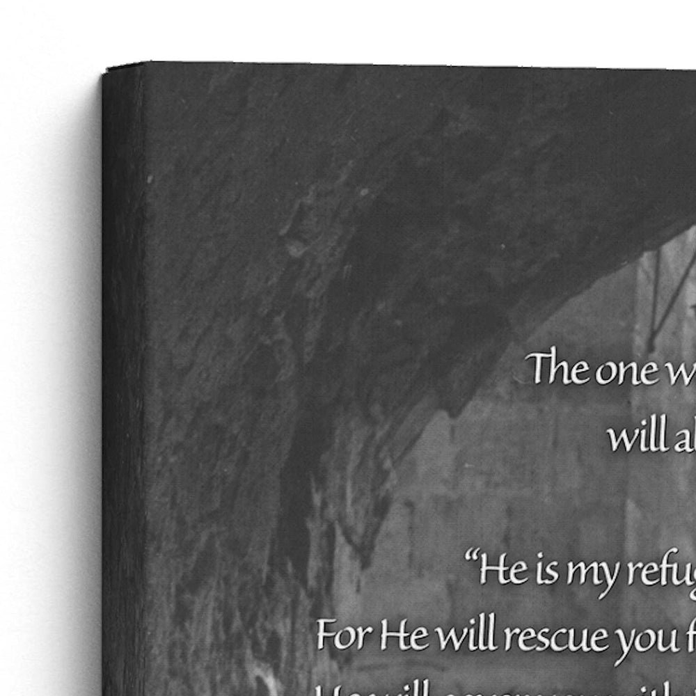 "Load image into Gallery viewer, ""Psalm 91"" The Prayer of Protection - 8x10 Tabletop Canvas Art"