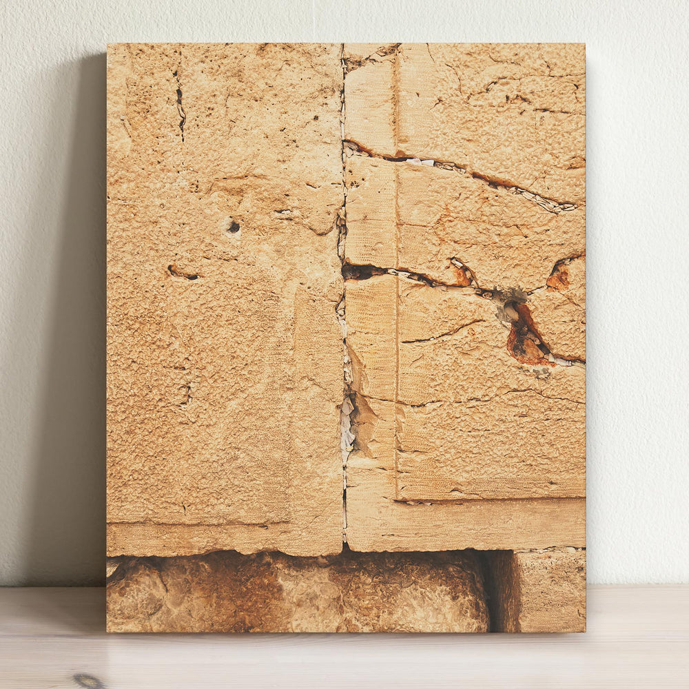 Western Wall - 8x10 Easel Back Canvas
