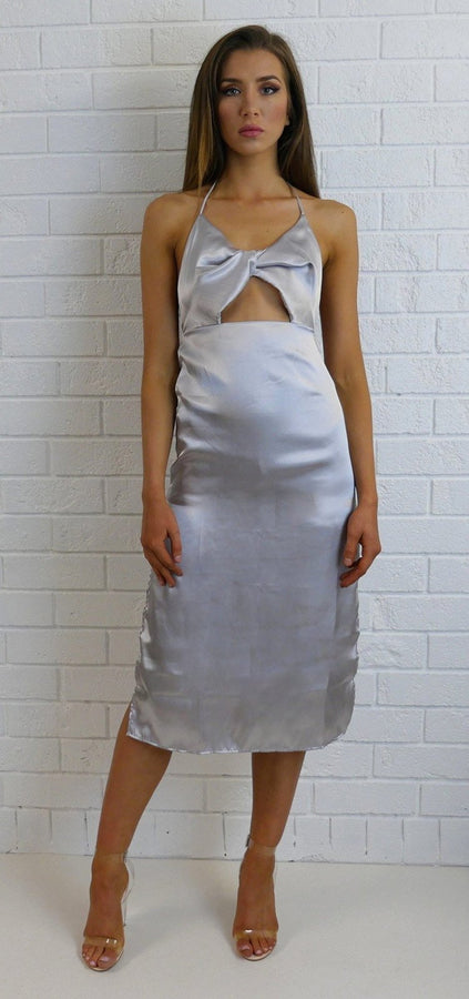 Bowe Front Dress Silver