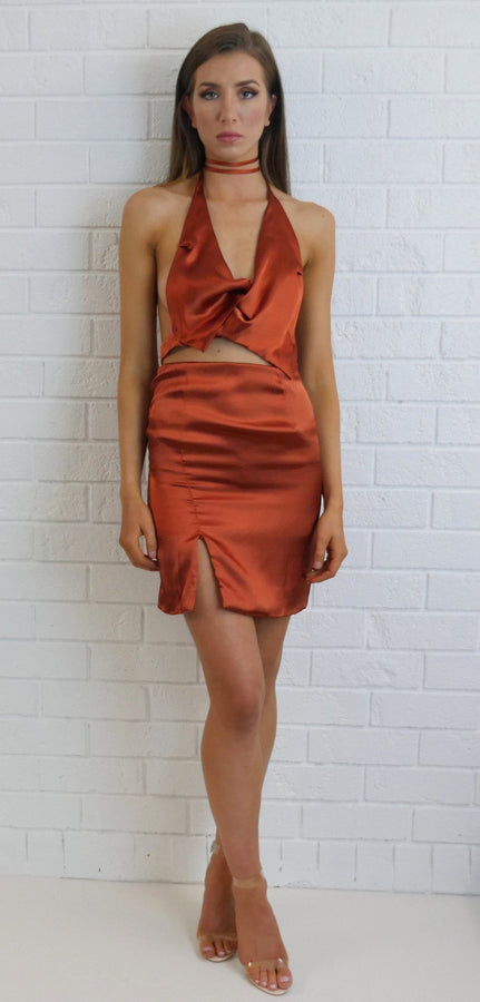 Marnie Knot Top Burnt Orange