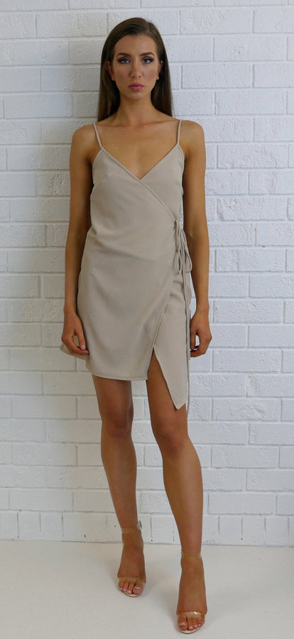 Daisy Slip Dress Nude