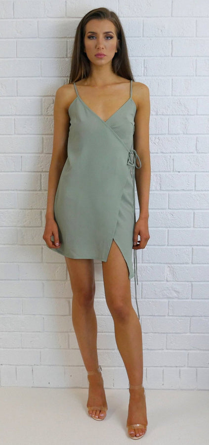 Daisy Slip Dress Pale Green