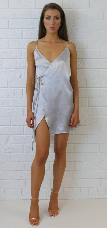 Daisy Slip Dress Silver
