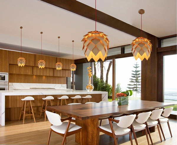 living room wooden pendant lights