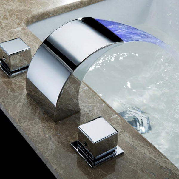 Color changing led faucet