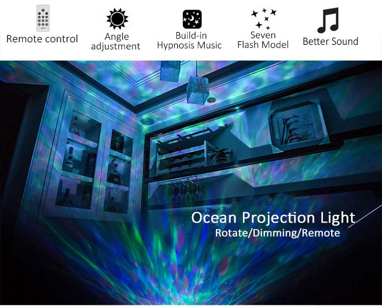ocean wave projector features