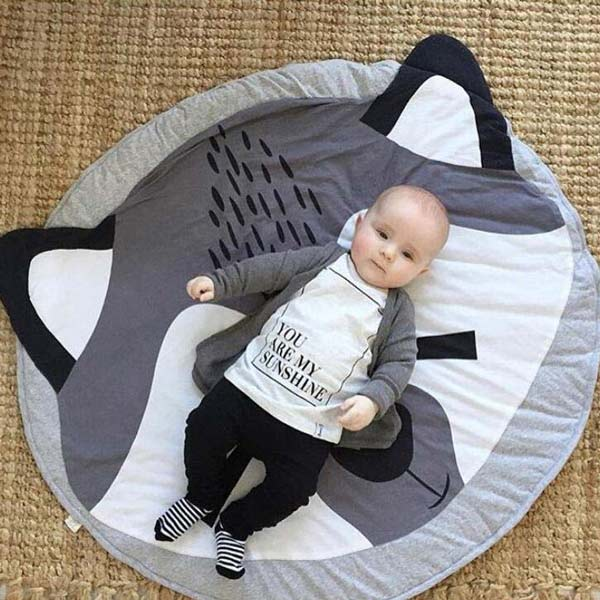 raccoon baby play mat