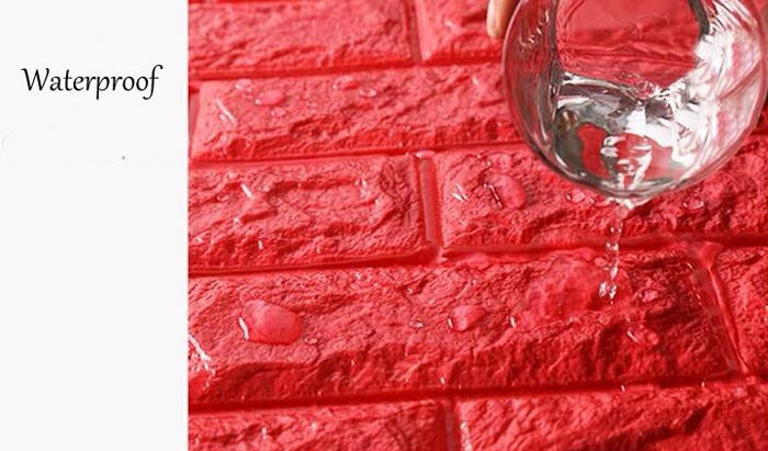 waterproof 3d wall sticker brick pattern