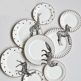 2 Pcs 6&8 Inch Ceramic Animal Plates Set Plates-Plate&Dish-Cool Home Styling
