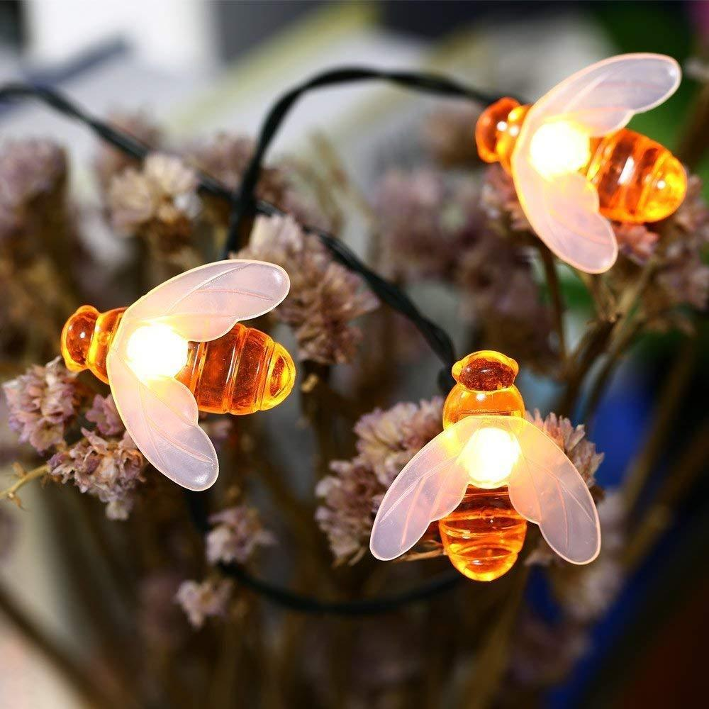 Bee String Lights 20 50 Led Outdoor Solar Power Waterproof Night Light