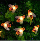 20/50 Solar Power Waterproof Bee String LED Lights-Lighting Strings-Cool Home Styling