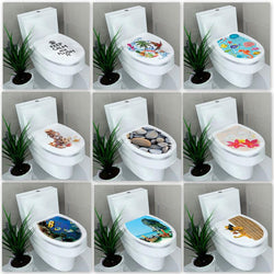 3D Toilet Stool Sticker 32*39cm-Wall Stickers-Cool Home Styling