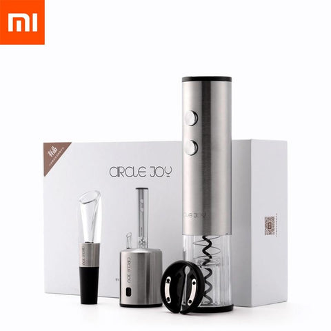 4in1 Xiaomi Circle Joy Wine Set : Automatic Wine Bottle Opener, Wine Stopper, Wine Decanter-Smart Remote Control-Cool Home Styling
