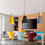 Colorful Modern Wood and Iron Pendant Lights-Pendant Lights-Cool Home Styling