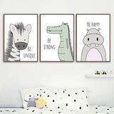 Cute Animals Wall Art Canvas Prints-Painting & Calligraphy-Cool Home Styling