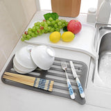Double Layer Dish Drainer With Water Draining Slot-Racks & Holders-Cool Home Styling