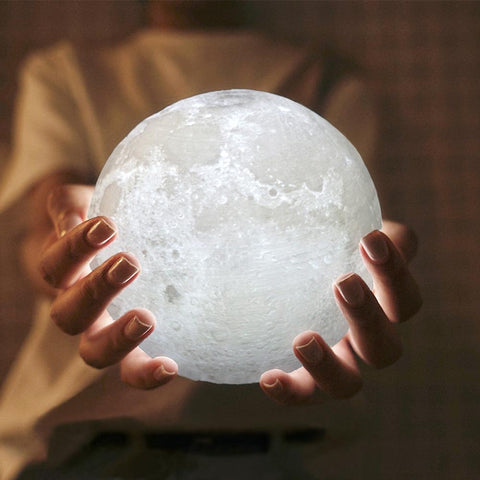 Enchanting 3D Print LED Moon Light Touch Switch LED Lamp-Night Lights-Cool Home Styling