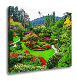 Gallery Wrapped Canvas, Butchart Gardens Gardens On Vancouver Island Flower Beds