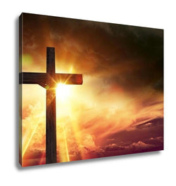 Gallery Wrapped Canvas, Crucifix Blessing Lights