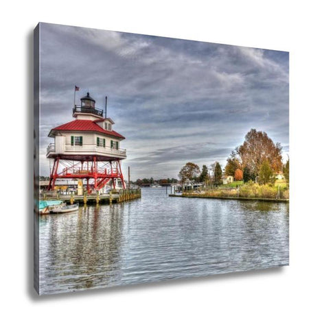 Gallery Wrapped Canvas, Drum Point Lighthouse In Maryland