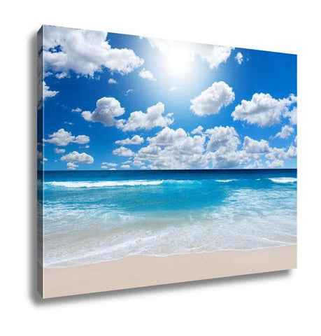 Gallery Wrapped Canvas, Gorgeous Beach Landscape