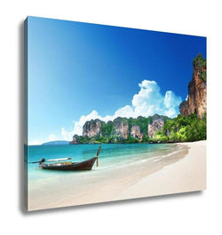 Gallery Wrapped Canvas, Railay Beach In Krabi Thailand