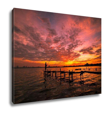 Gallery Wrapped Canvas, Sunset In West Lake Hanoi Vietnam