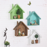 House Shaped Wood Organizer Box Wall Mounted Shelf-Storage Holders & Racks-Cool Home Styling