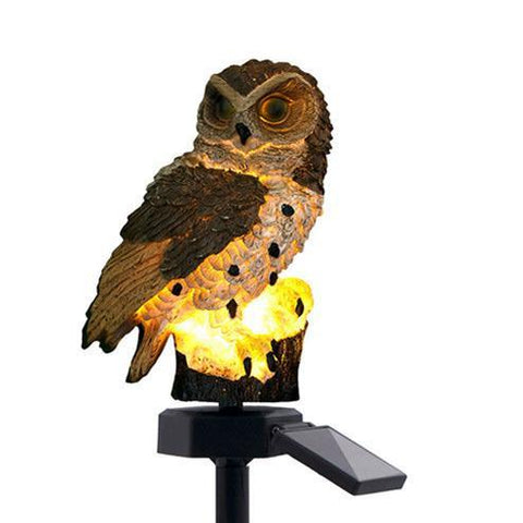 Solar Powered Guarding Owl LED Garden Lights-Solar Lamps-Cool Home Styling