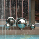 Stainless Steel Sphere For Home Garden Decoration-Decorative Stakes & Wind Spinners-Cool Home Styling