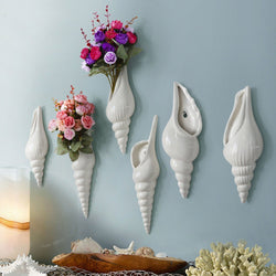 Wall Mounted Conch Flower Vases-Statues & Sculptures-Cool Home Styling
