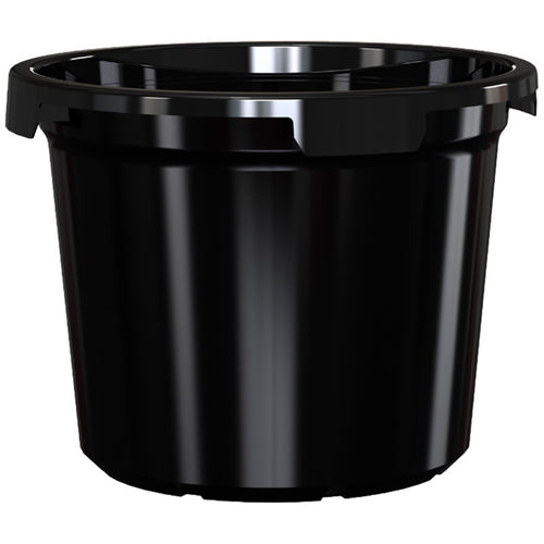 1x 400mm Plastic UV treated pot Black