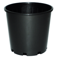 10x 200mm Plastic UV treated pot Black (10 pack)