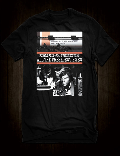 Robert Redford Dustin Hoffman All The President's Men T-Shirt