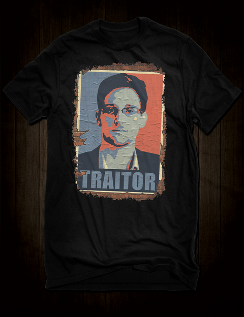 Edward Snowden Traitor T-Shirt