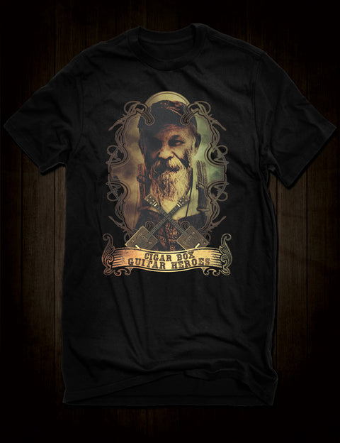 Cigar Box Guitar Hero Seasick Steve T-Shirt