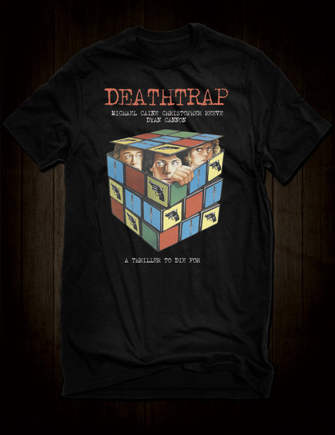 Ira Levin Deathtrap Movie T-Shirt Michael Caine
