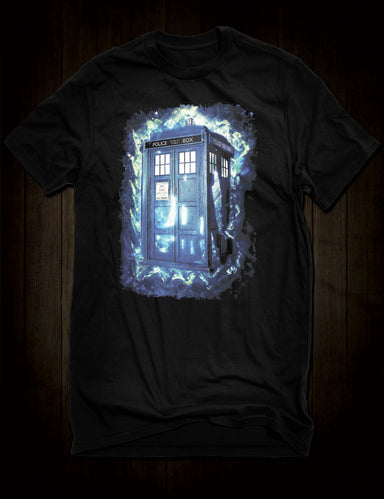 Cult Sci Fi Dr Who Tardis Police Box T-Shirt