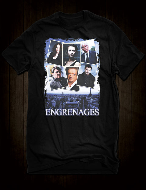 French Crime Drama Engrenages T-Shirt