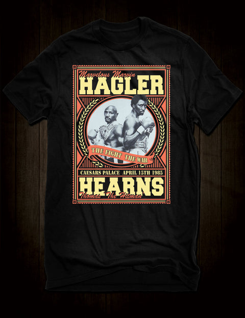 Hagler Versus Hearns Classic Boxing T-Shirt