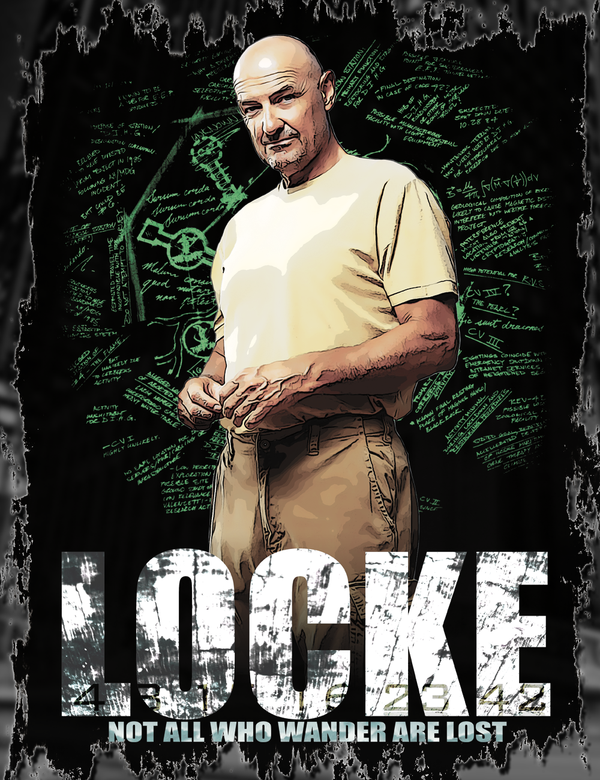 Lost - John Locke T Shirt Design
