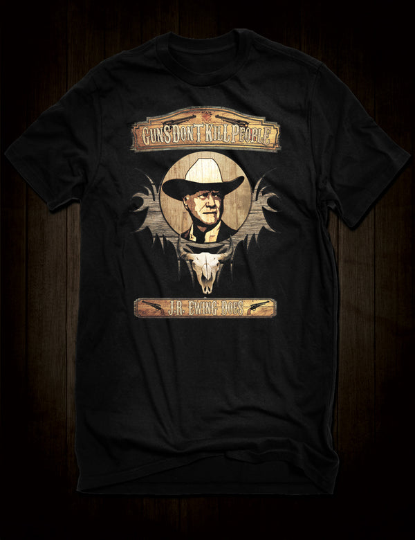 J R Ewing Guns T-Shirt