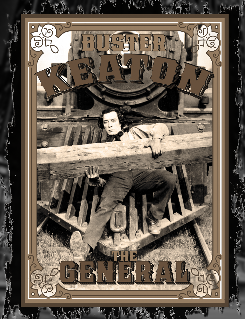 Buster Keaton The General Tee Design